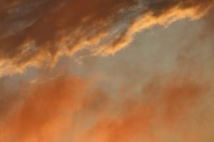 super orange clouds